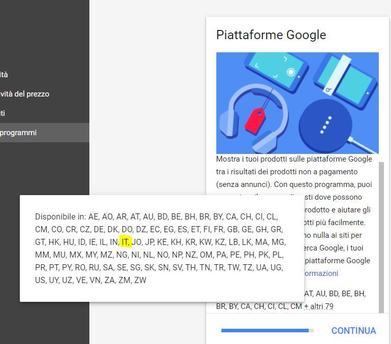 Google shopping Gratis è arrivato in Italia